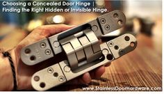 There are many different types of concealed door hinges to choose from. Choosing the right hidden or invisible hinge will influence the design, functionality and durability of your interior door Concealed Door Hinges, Hidden Door Hinges, Invisible Hinges, European Hinges, Vault Doors, Secret Hiding Places, Hidden Spaces, Safe Room, Door Detail