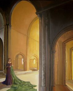 Vairë, the vala from Tolkien's Silmarillion dwells in the halls of Mandos and fills them with her tapestries of Ardas history.