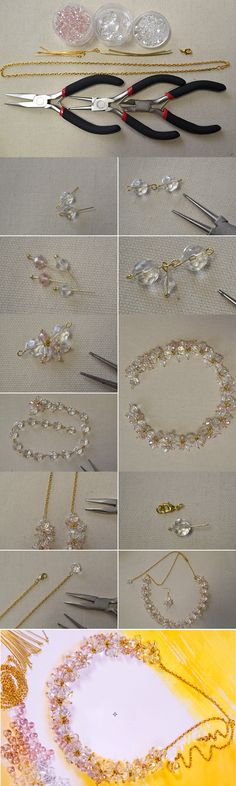 Bead and Chain Necklace Designs on How to Make a Beaded Chain Necklace from LC.Pandahall.com #pandahall