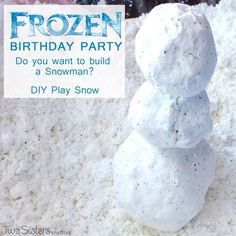 This DIY Play Snow was the hit of our summertime Disney Frozen Party, It's so easy to make, felt just like snow and we have all the directions right here.