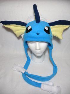 Pokemon Vaporeon Fleece Hat -MADE TO ORDER-  $40.00