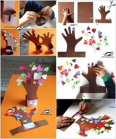 Amazing Interior Design 10 Easy Paper Crafts to Try with Kids Easy Diys For Kids, Diy Crafts For Adults, Mothers Day Crafts For Kids, Diy Mothers Day Gifts, Easy Paper Crafts, Easy Diy Crafts, Homemade Valentines, Valentine Crafts, Fathers Day Presents