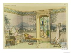 """Design for a Bathroom, from """"Interieurs Modernes,"""" Published Paris, 1900 Giclee Print by Georges Remon at eu.art.com"""