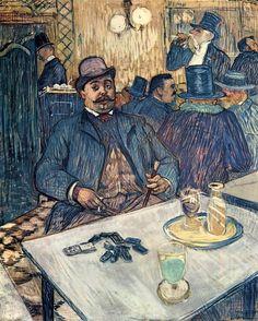 Monsieur Boleau in a Cafe : Henri de Toulouse-Lautrec : Museum Art Images : Museuma
