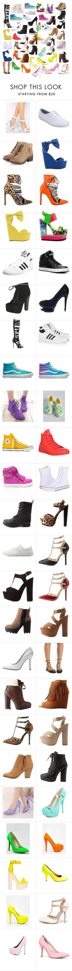 """Shoes #8"" by deamer ❤ liked on Polyvore featuring Windsor Smith, Keds, Privileged, adidas Originals, adidas, Breckelle's, Posh Girl, Vans, Wello and Converse"