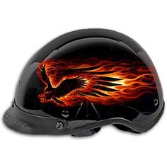 Flaming Eagle Helmet.  This was made for riding Juice.