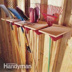Garage Storage Project: Shovel Rack | The Family Handyman