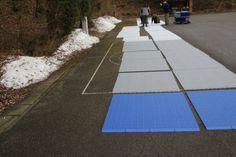 Montage der neuen Sommerbahn für Eisstock - Anlegen der Module