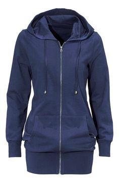 Cool Happy Holly Sweatshirtjakke Marine fra Halens Happy Holly Overdele til Dame i lækker kvalitet