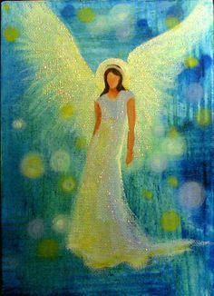 Original Angel Painting Spiritual Healing Energy by Breten Bryden #BrydenArt.com #angels Angel Images, Angel Pictures, Christmas Drawing, Christmas Art, Nature Paintings, Angel Paintings, Angel Guide, I Believe In Angels, Guardian Angels