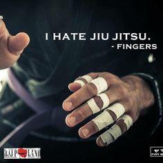 """""""I hate Jiu jitsu"""" - Fingers #bjj"""