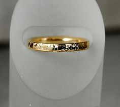 14K Gold Textured Wedding Band - riccoartjewelry.com