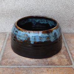 Spaniel water bowl ....for long  eared dogs....hand thrown in stoneware pottery