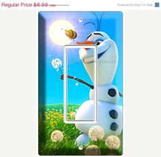 ON SALE NOW New Funny Snowman Olaf Summer dreaming Disney frozen single Gfi light switch cover wall plates children's play area bedroom room on Etsy, $6.64