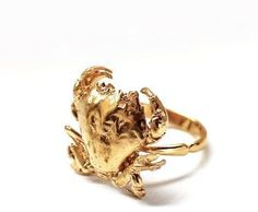 Gold Crab Ring - Wons Upon A Time