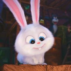 Lol this bunny is cute but he's a demon Cute Disney Wallpaper, Cute Cartoon Wallpapers, Snowball Rabbit, Rabbit Wallpaper, Cute Bunny Cartoon, Pets Movie, Cute Baby Animals, Animation, Cartoons