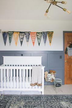Football Nursery, Baby Boy Football, Baby Boy Rooms, Baby Boy Nurseries, Baby Boys, Nursery Themes, Room Themes, Nursery Ideas, Vintage Sports Nursery