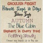 Seasonal Fonts - Autumn / Halloween