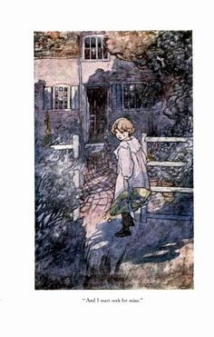 """""""And I must seek for mine."""" Illustration by Charles Robinson for William Blake's """"Song of Innocence"""" Songs Of Innocence, British Books, William Blake, Stationery, Blog, Painting, Vintage, Journal, Illustrations"""