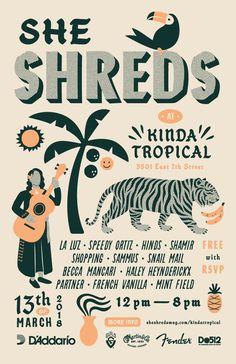 She shreds kinda tropical