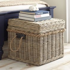 Tarina Basket | Woven of abaca and equipped with rope handles, this rustic basket can stow away all your odds and ends. Top it with a tray to display decor and create the perfect hideaway.