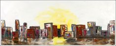 """SoHo""...acrylic on stretched canvas...24"" x 60"" x 3""...©Mac Worthington, artist, 2014"