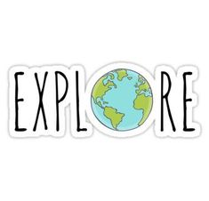 Laptop decal stickers - 'Explore' Sticker by marcmediadesign – Laptop decal stickers Laptop Decal Stickers, Cool Stickers, Funny Stickers, Printable Stickers, Buch Design, Preppy Stickers, Homemade Stickers, Bubble Stickers, Aesthetic Stickers