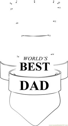 Printable best dad coloring pages