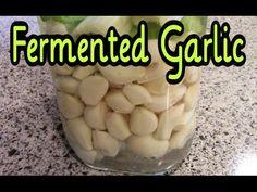 Brined Raw Garlic in a Fido Jar, nice and easy! **Fermented Garlic - Preserving Garlic with Fermentation Garlic Soup, Garlic Mashed Potatoes, Garlic Pasta, Roasted Garlic, Garlic Noodles, Garlic Chicken, Raw Garlic, Fermented Cabbage, Healthy Recipes