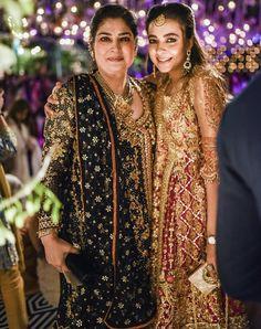 The gorgeous mother of bride #AsmaMalik along with #MalihaAziz looking beautiful in #FarahTalibAziz angarkhas at the #ShahMin Mehndi✨