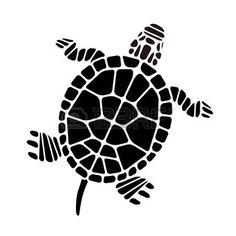 tatuaggio tartaruga: Turtle Silhouette Vettoriali