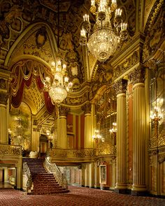 To go- Los Angeles Theatre, Los Angeles, California -  This theater with its gorgeous French Baroque-inspired décor was designed by S. Charles Lee in 1931 and was the last, most extravagant of the movie palaces built in L.A. during the Hollywood glam days