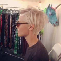 Brittenelle hair inspiration short blonde white hair
