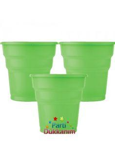 Yeşil Plastik Bardak Lüks (25 adet)