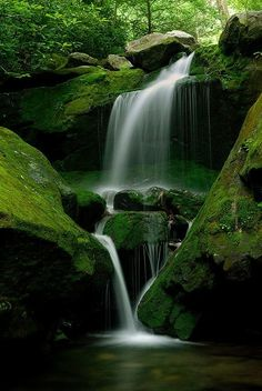 ^Waterfall - The Smokey Mountains, Virginia