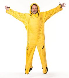 Lazypatch Pouch Suit   (human sleeping bag).   It moves with you and you can still get up to make a coffee, answer the door when woken from that afternoon nap, or when nature calls...