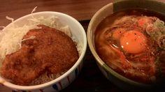 杉津PA ミニソースカツ丼とかき揚げうどんセット