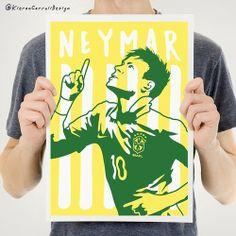Neymar Illustration - Brasil 2014 by Kieran Carroll Design