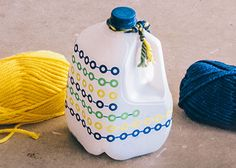 "This craft for kids turns a recycled milk jug into a rhythm instrument similar to traditional ""shekeres"" popular in Africa and Latin America."