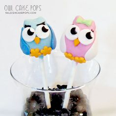 Owl Cake Pops .. Click to Shop