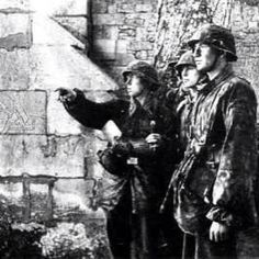 Soldiers from the 12th SS division plan out what to do next, some where in Normandy, WWII, pin by Paolo Marzioli