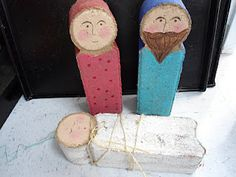 Painted Cement Block Outdoor Nativity!  Great for the front porch. I have these blocks in my front landscaping.