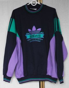 Vintage Adidas Sweatshirt Sweater Jumper L 80s Inspired Outfits, Retro Outfits, Vintage Outfits, Cool Outfits, Fashion Outfits, Vintage Adidas, Cosplay Outfits, Mode Vintage, Aesthetic Clothes