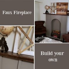Simple Rustic Faux Fireplace | Netties Expressions Blog