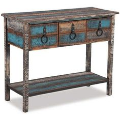 "Calypso Console Table Our Price: $178.00  Dimensions: 60""h x 33""w x 16""d  Product SKU: 1B-14225 Brand: L. POWELL COMPANY"