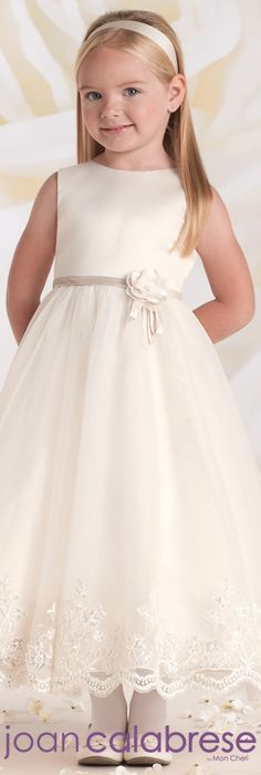 Joan Calabrese for Mon Cheri - Style No. 115321 #flowergirldresses calabresegirl.com