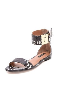 ~Rachel Zoe Gladys Snakeskin Sandals | House of Beccaria#