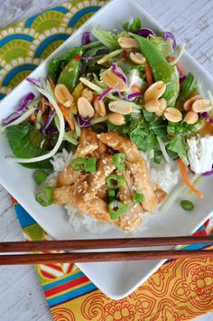 Slow Cooker Teriyaki Chicken Salad - Make this yummy chicken to use in salads and more!