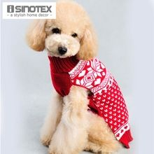 New Snowfake Christmas Pets Clothes Winter Warm Dog Sweater Cat Fashion Cotton Clothing Puppy Outdoor Coat(China (Mainland))