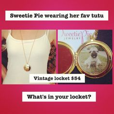 """Vintage Locket on 30"""" 18k gold plated chain"""
